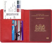 Paspoorthouder / Paspoorthoesje / Passport Wallet - V1 - Rood