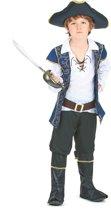 Blauw en goudkleurig barok piraten kostuum voor jongens - Verkleedkleding