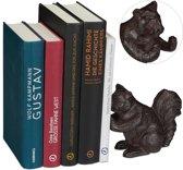 relaxdays boekensteun - dier - gietijzer - boekenhouder - steun boeken - boekenstandaard Eekhoorn