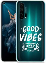 Honor 20 Pro Hoesje Good Vibes wit
