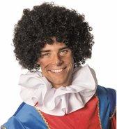 2x Zwarte Pieten pruiken voor volwassenen - Pietenpruik - Piet verkleed accessoire