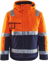 Blåkläder 4870-1987 Winterjas High Vis Oranje/Marineblauw maat S