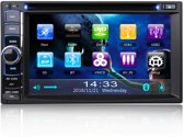 2DIN autoradio met CD/DVD Bluetooth, USB en Navigatie. (Handsfree bellen)
