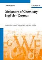 Chemisches Woerterbuch Englisch-Deutsch / Dictionary of Chemistry English-German