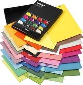 Color Bar, A4 21x30 cm, kleuren assorti, effen, 160 assorti vel