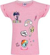 My Little Pony T-shirt-met-korte-mouw-fuchsia - Maat 116
