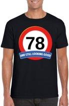 78 jaar and still looking good t-shirt zwart - heren - verjaardag shirts 2XL