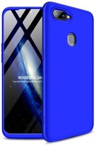 Teleplus Oppo AX7 360 Full Protection Hard Cover Case Blue hoesje