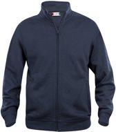 Clique - Sweatshirt zonder capuchon - Unisex - Maat L - Navy