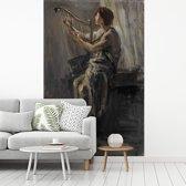 Fotobehang vinyl - David - Schilderij van Jozef Israëls breedte 210 cm x hoogte 320 cm - Foto print op behang (in 7 formaten beschikbaar)