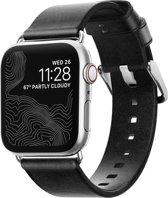 Nomad Strap - Modern - voor Apple Watch 38 & 40mm - Zwart & Zilver