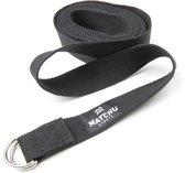 Matchu Sports - Yoga strap - 3m - Zwart