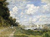 Claude Monet : The Port at Argenteuil (1874) Canvas Print