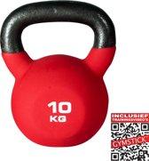 Gymstick Pro Kettlebell Neopreen - 10 kg - Met trainingsvideo's