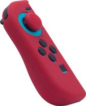 Joy Con Controller Silicone Skin - Links - Rood + Grips - Nintendo Switch