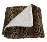 """Plaids - Plaid Rechthoekig """"leopard"""" Stof 160x130x4cm"""