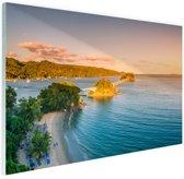 Caraibische brug Glas 120x80 cm - Foto print op Glas (Plexiglas wanddecoratie)
