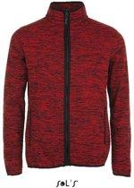 Gebreid fleecevest Sol's Turbo - rood/zwart - XL