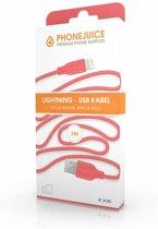 Hoge kwaliteit 3 meter lange iPhone 5 / 6 / 7 / 8 / X / iPad lightning kabel – Roze