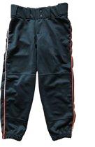 Worth Dames Softbal Broek 3/4  - Medium - Zwart/Oranje