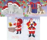 60 Stuks - Kerst en Nieuwjaarskaarten met enveloppen - 14,5 x 10,5cm