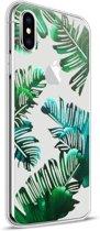 Apple iPhone X Design TPU Hoesje - Leaves