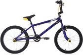 Ks Cycling Fiets 20'' freestyle-BMX Hedonic blauw-geel - 28 cm
