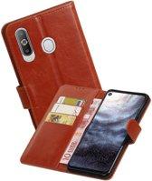 Zakelijke Bookstyle Hoesje voor Samsung Galaxy A8s Bruin