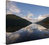 Het heuvellandschap van het Nationaal park Loch Lomond en de Trossachs in Schotland Canvas 60x40 cm - Foto print op Canvas schilderij (Wanddecoratie woonkamer / slaapkamer)
