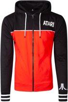 Atari Vest met capuchon -M- Colour Block Zwart/Rood