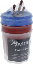 Master Paintbox met 3 Master patentpunt kwasten