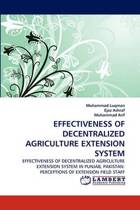 Effectiveness of Decentralized Agriculture Extension System