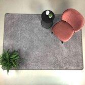 Hoogpolig Vloerkleed Coco 170x230 - Grijs Effen
