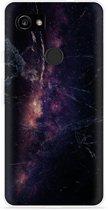 Pixel 2 XL Hoesje Black Space Marble