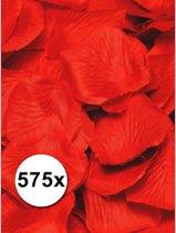 Luxe rode rozenblaadjes 575 stuks - kunst rozen blaadjes
