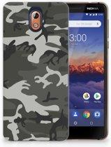 Nokia 3.1 (2018) Uniek TPU Hoesje Army Light