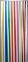 Vliegengordijn linten multicolor/wit 90x200