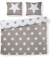 Day Dream Stars dekbedovertrek - Zand - 2-persoons (200x200/220 cm + 2 slopen)