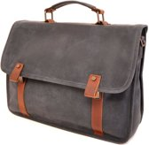 Barbarossa Ruvido Brief Case Laptop Schoudertas 15.4 Navy