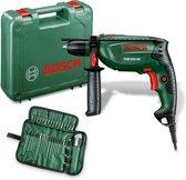 Bosch PSB 650 RE Boormachine 650 Watt Met stevige kunststof koffer en 39 delige accessoireset
