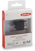 Ednet 84547 kabeladapter/verloopstukje 3.5mm 2 x 3.5mm Zwart