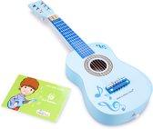 New Classic Toys Gitaar Blauw Met Muzieknoten
