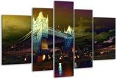 Glasschilderij Steden | Geel, Groen, Zwart | 170x100cm 5Luik | Foto print op Glas |  F003423