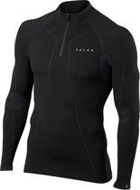 FALKE Wool Tech Heren Zip Shirt - Zwart - Maat L