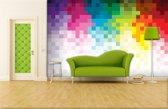 Fotobehang Abstract | Roze, Geel | 152,5x104cm