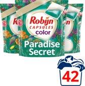 Robijn Capsules 2 in 1 Paradise Secrets - 42 wasbeurten - 3 stuks - Wasmiddel