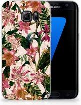 Samsung Galaxy S7 Edge Uniek TPU Hoesje Flowers