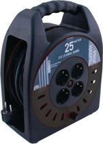 ETM Kabelbox - 25 m met 3 x 1.5 mm2 Vinyl Snoer - Zwart
