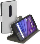 HC wit bookcase Motorola Moto G 2015 3rd gen wallet cover hoesje