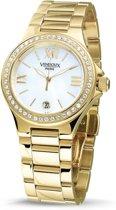VENDOUX The Donna Gold/White MD30250-02 - Horloge - Dames - Goudkleurig - Ø 34mm